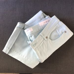 Loft Light Blue Skinny Crop